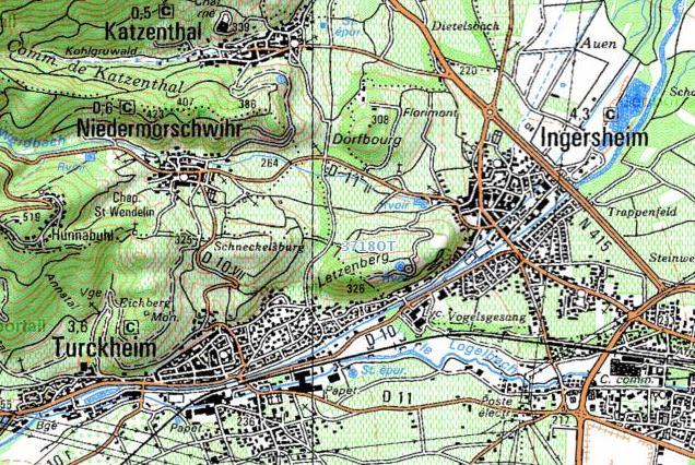 Plan De La Ville De Lavelanet